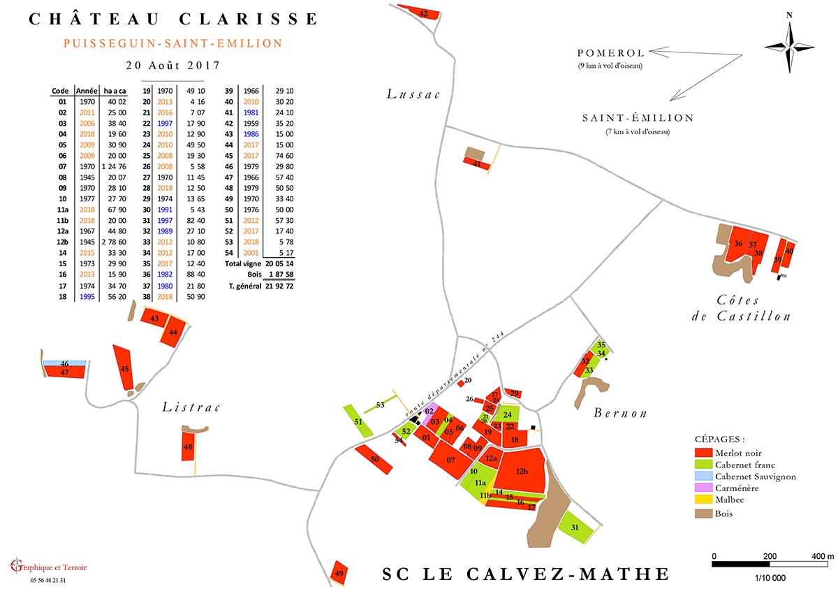 Carte Vignoble 2017